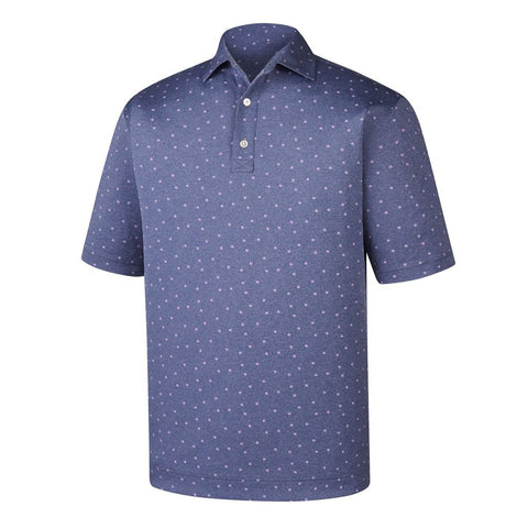 Polo Footjoy Stretch Pique Flower Print   Self Collar