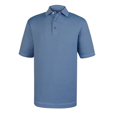 Polo Footjoy Prodry Performance Lisle Feeder Stripe Shirt   Self Collar