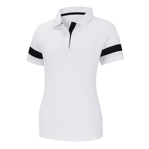 Playera FootJoy Sleeve Stripe Shirt Mujer