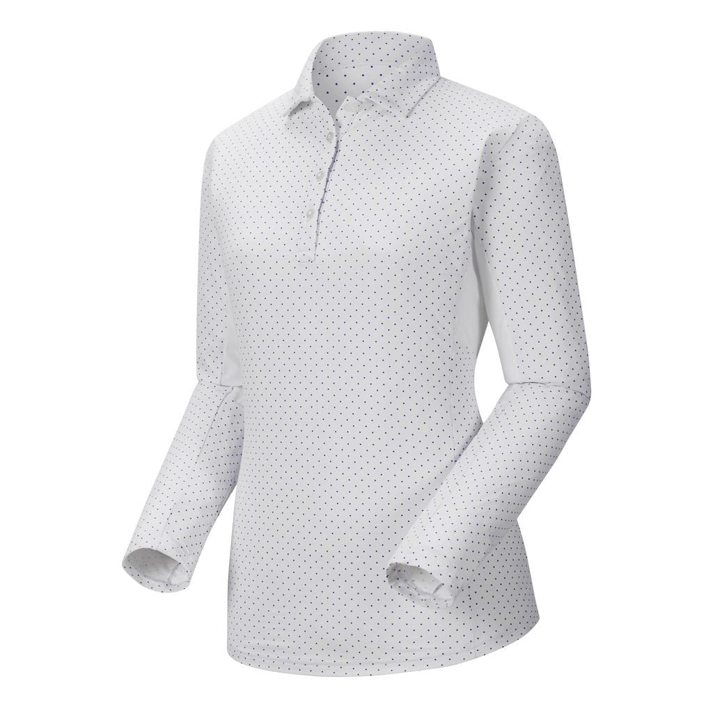 Playera FootJoy L/S Dot Print Sun Protection Shirt Mujer