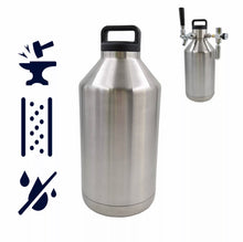 Load image into Gallery viewer, 64 / 128 oz VACUUM INSULATED BEER GROWLER - KEGWERKS.IN