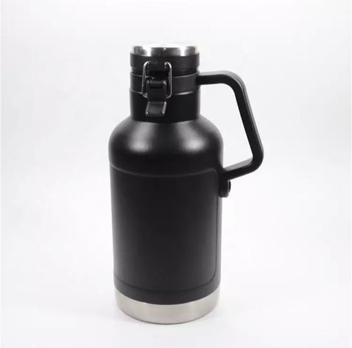 32 / 64 oz VACUUM INSULATED FLIP TOP BEER GROWLER - KEGWERKS.IN