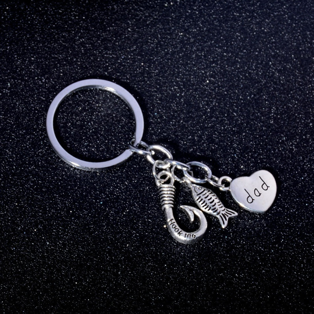 Fishing Key Ring For Dad