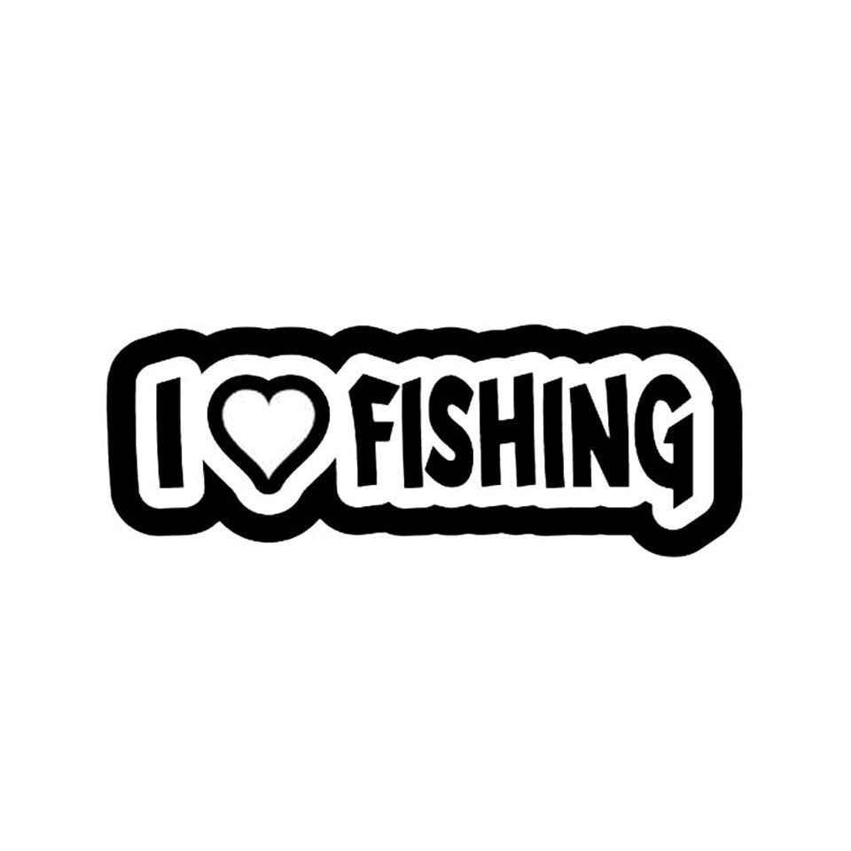 I Heart Fishing ~ Decal