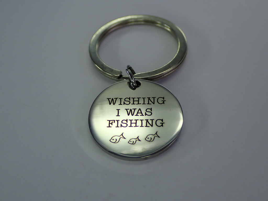 Wishing I Was Fishing ~ Key Ring