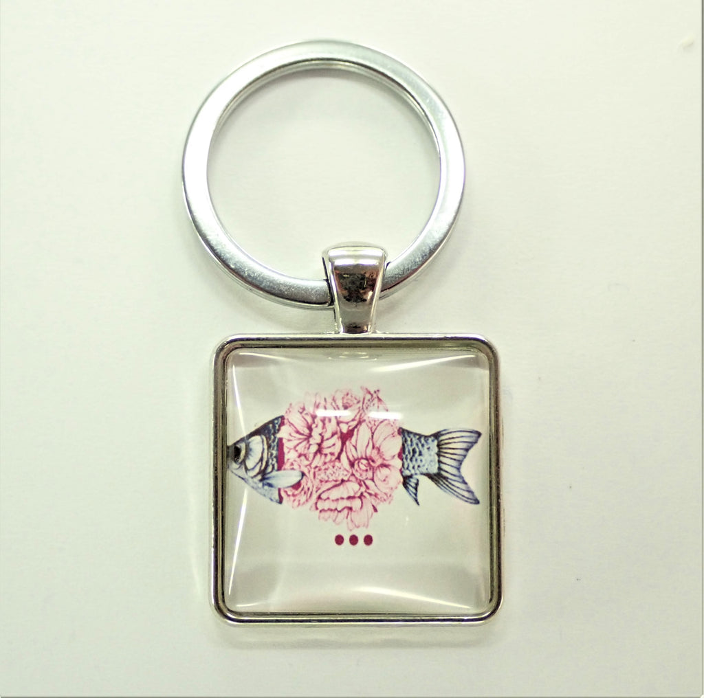 Flower Fish Key Ring
