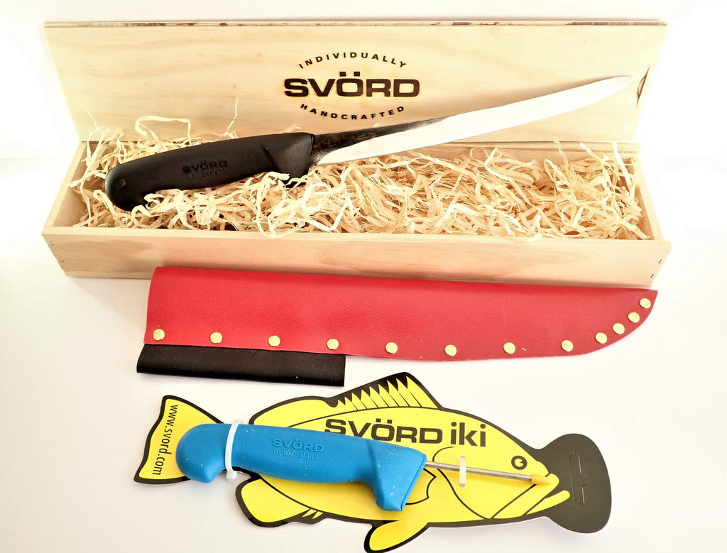 "Svord Fish Fillet Knife 9"" Carbon Steel Gift Pack"
