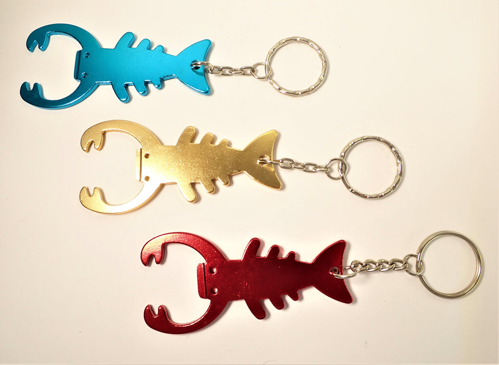 Crayfish Bottle Opener Key Ring