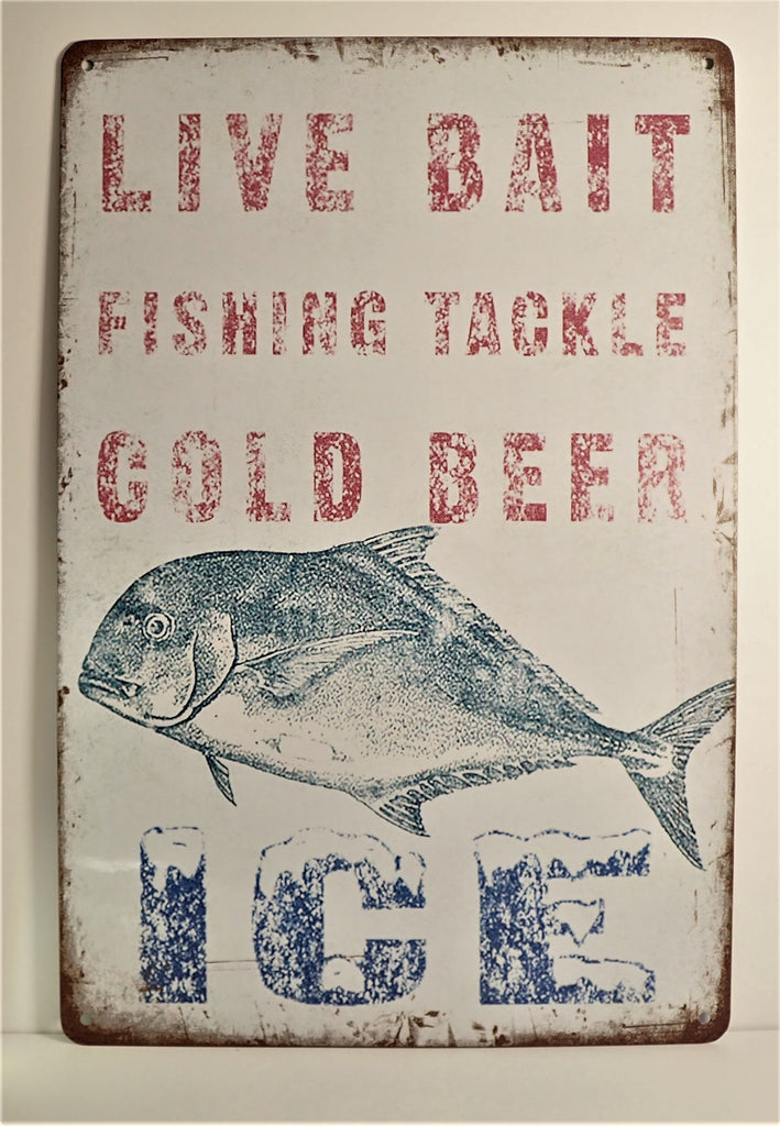 Old School Vintage Fishing Shack ~ Sign
