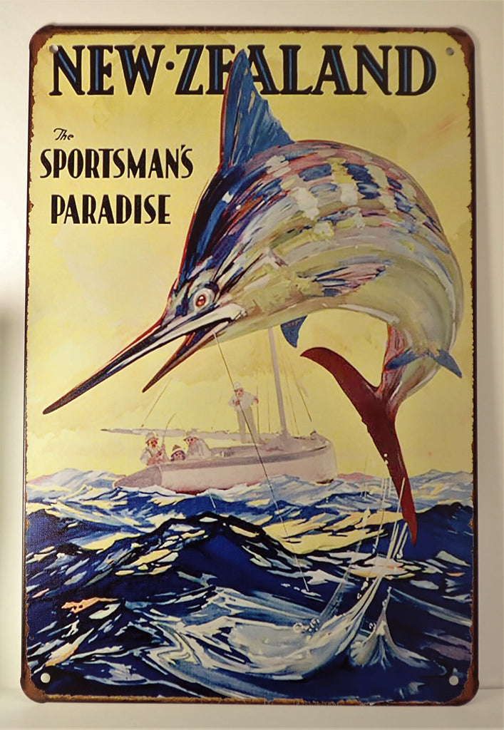 New Zealand Sportsman's Paradise ~Sign