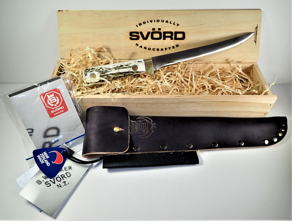 "Svord 7"" Stag Antler Filet Knife - Gift Boxed"
