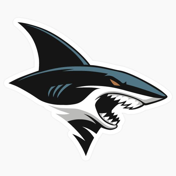 Angry Shark Head ~ Decal