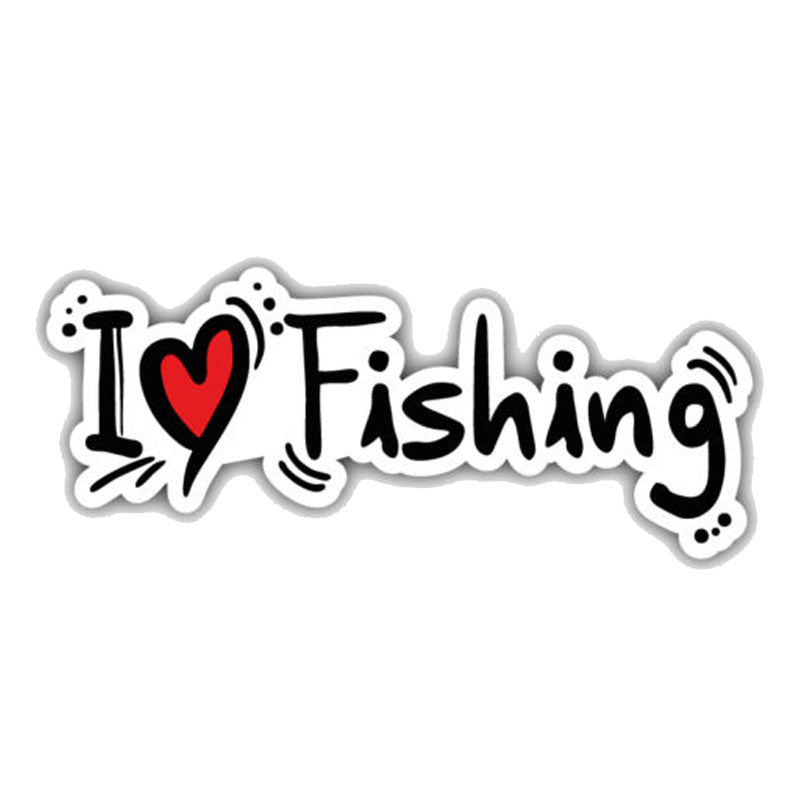 I Love Fishing ~ Decal