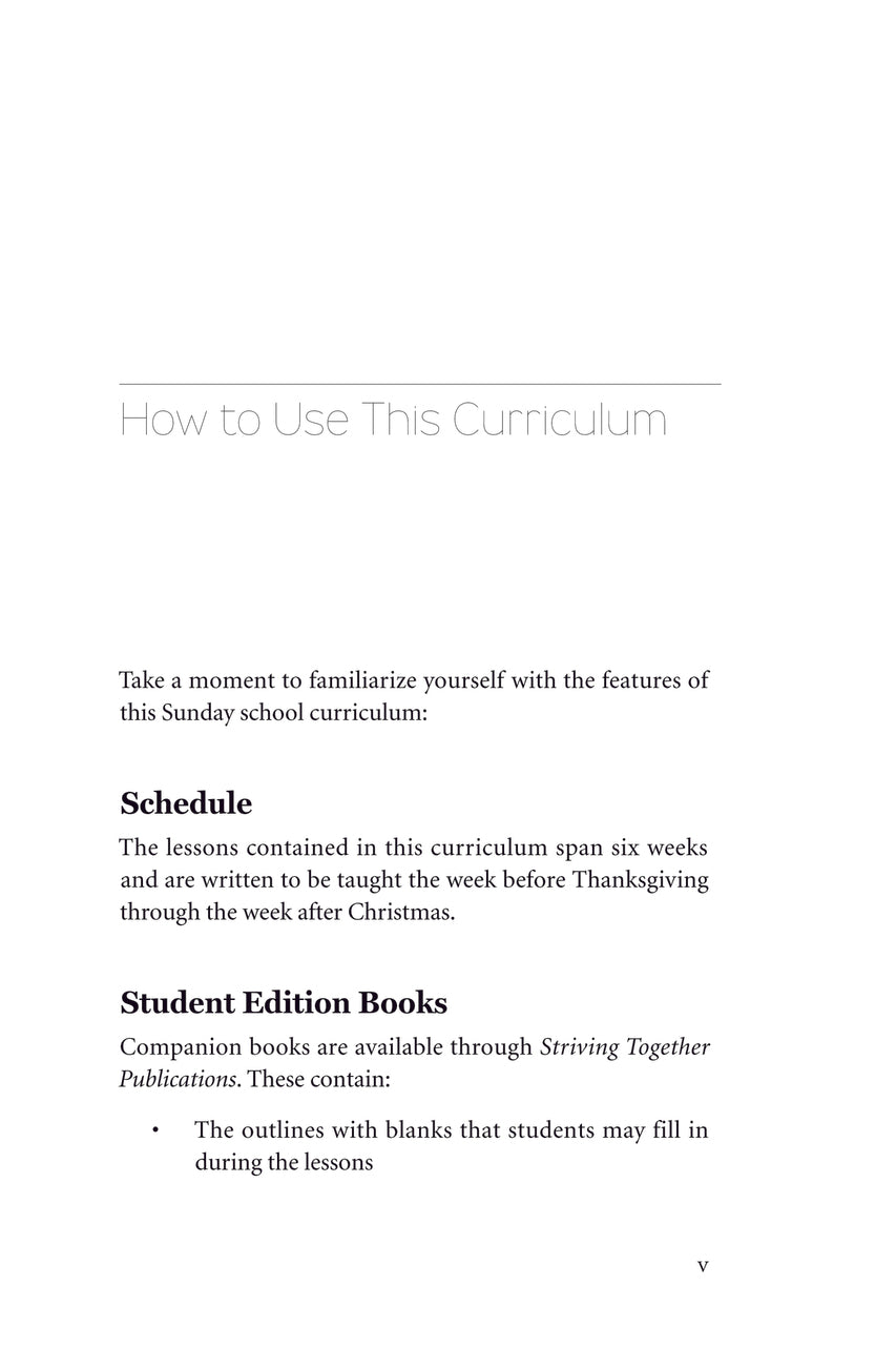Christmas Lessons For Sunday School.A Season To Celebrate Teacher Edition Striving Together