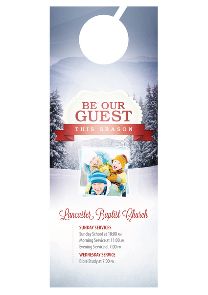 Be Our Guest This Season—Door Hanger