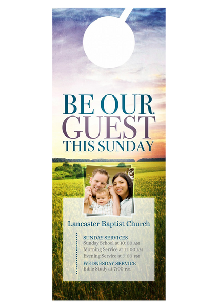 Be Our Guest—Door Hanger