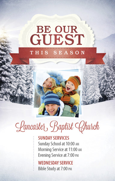 Be Our Guest This Season—Outreach Card