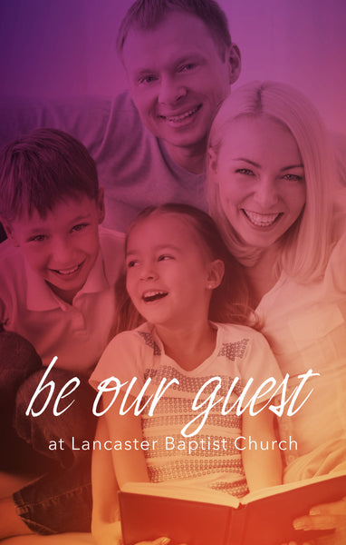 Be Our Guest Family—Outreach Card