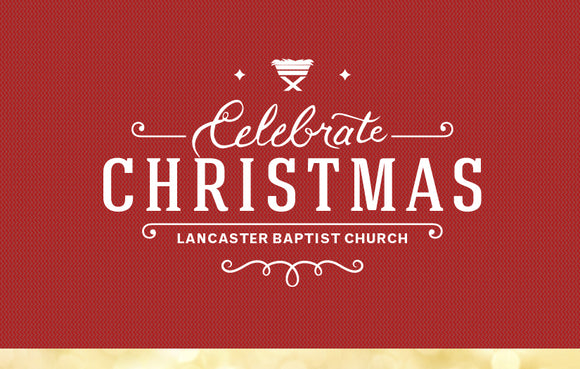 Celebrate Christmas Red & Gold—Outreach Card