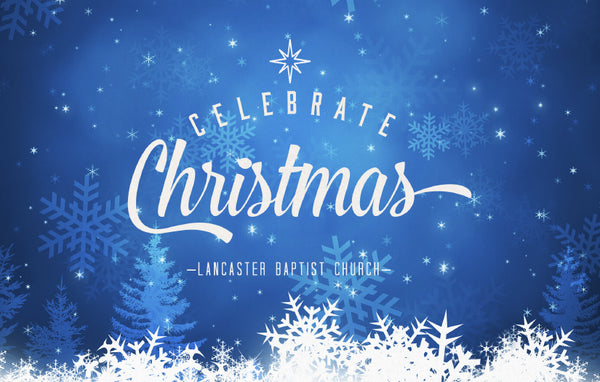 Celebrate Christmas Snowflakes—Outreach Card