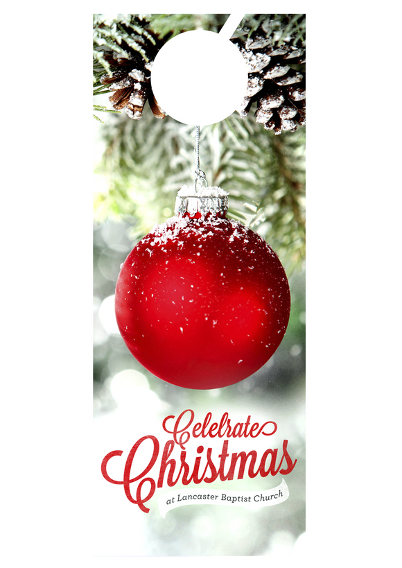 Celebrate Christmas Ornament—Door Hanger