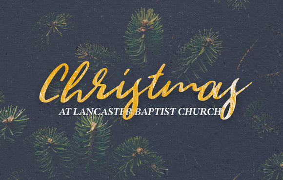 Christmas Navy & Gold—Outreach Card