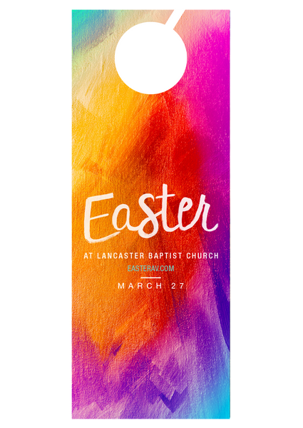 Colorful Easter—Door Hanger