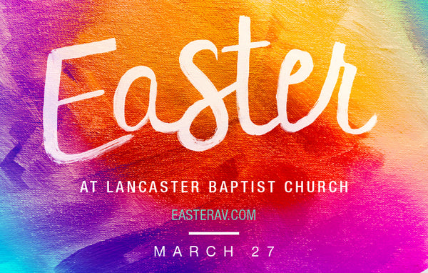 Colorful Easter—Outreach Card