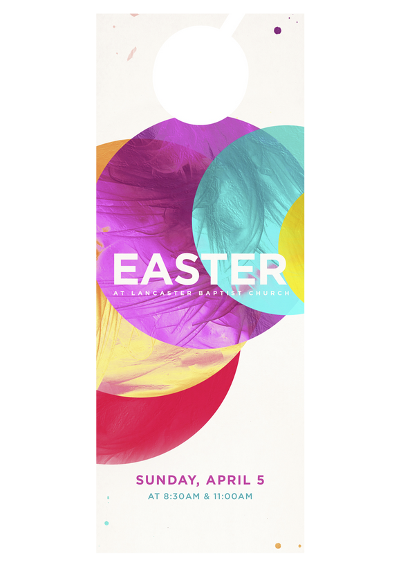 Easter Circles—Door Hanger