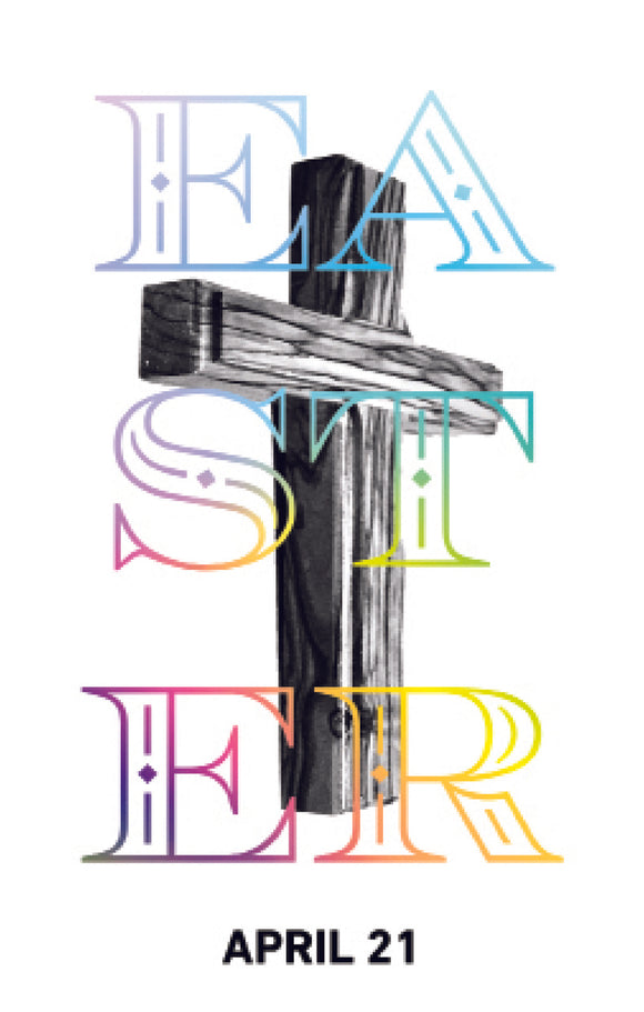 Easter Cross—Outreach Card