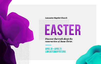 Easter Purple & Blue—Outreach Card