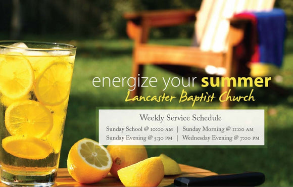 Energize Your Summer—Outreach Card