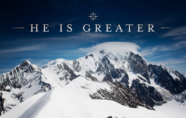 He Is Greater—Outreach Card