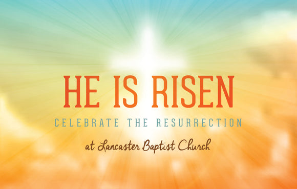 He Is Risen—Outreach Card