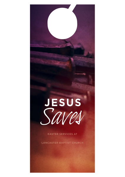 Jesus Saves—Door Hanger