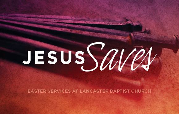 Jesus Saves—Outreach Card