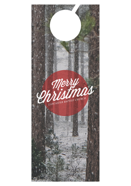 Merry Christmas Forest—Door Hanger