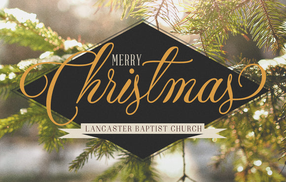 Merry Christmas Tan—Outreach Card