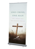 One Cross, One Man Banner