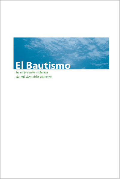 Baptism Brochure Bifold (Spanish) Pack of 100