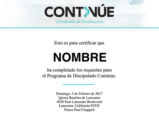 Continue Certificate in Spanish