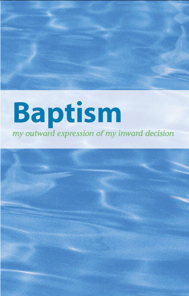 Baptism Brochure Trifold (English)-Pack of 100
