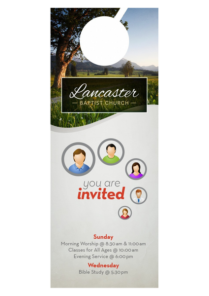 You are Invited—Door Hanger