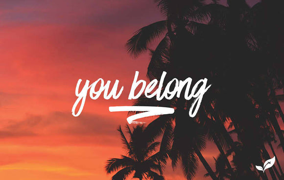 You Belong Sunset—Outreach Card