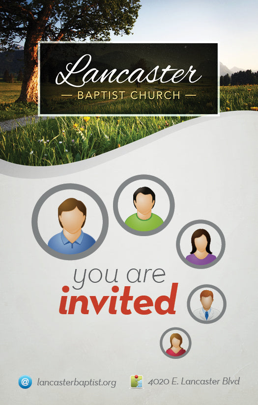 You are Invited—Outreach Card