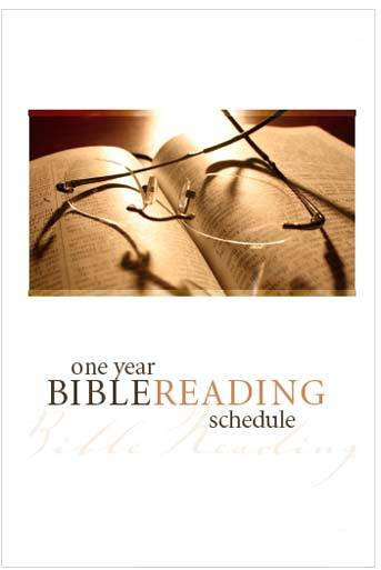 Bible Reading Schedule (English) Pack of 100