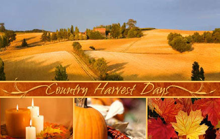 Country Harvest Days (Red)—Gospel Tract