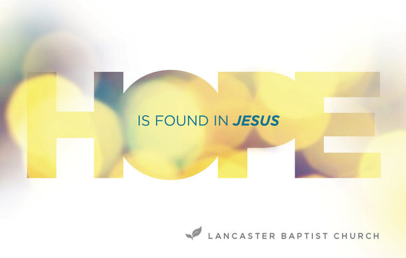 Hope is Found in Jesus—Outreach Card
