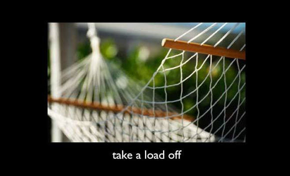 Take a Load Off (wide)—Gospel Tract