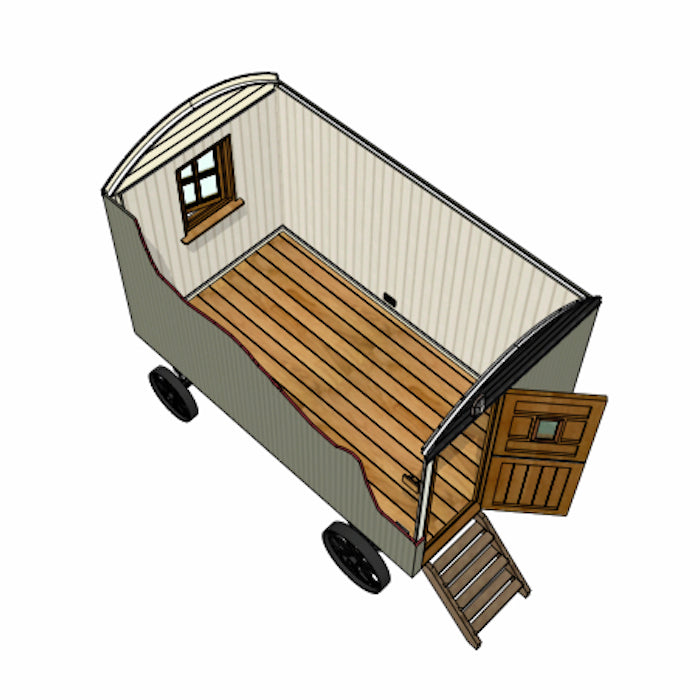 Model A Plankbridge 12' Snug Shepherd's hut